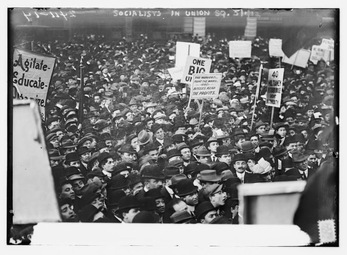 Socialists in Union Square, N.Y.C. on 1 May 1912 (Library of Congress)