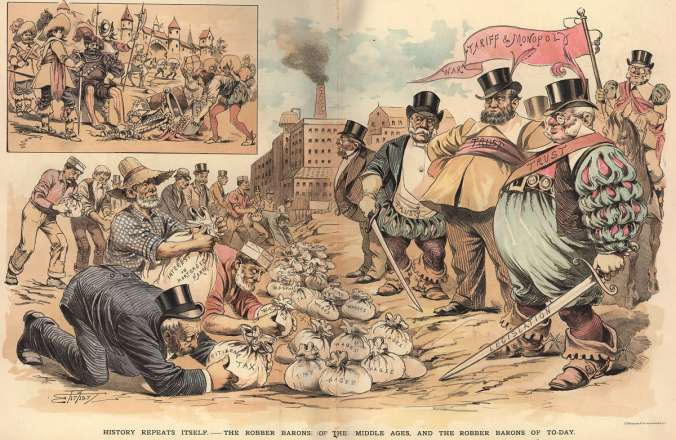 The Robber Barons of To-Day, by Samuel Ehrhardt, Puck, 1889 (Courtesy Special Collections and Archives, Southern Labor Archives, Georgia State University)