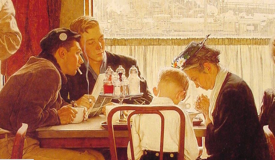 Saying-Grace-by-Norman-Rockwell-from-Saturday-Evening-Post-November-24-1951