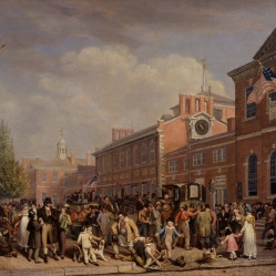 09. Elezioni: corpi in festa, 1815. John Lewis Krimmel, The Election Day in Philadelphia (1815). Winterthur Museum and Country Estate, Winterthur, Maryland.