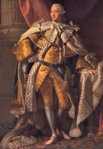 01. Il corpo del Re. Allan Ramsay, King George III in Coronation Robes (circa 1762). National Portrait Gallery, London.