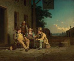 20. Corpi repubblicani ideali, 1852. George Caleb Bingham, Canvassing for a Vote (1851-52). Nelson-Atkins Museum of Art, Kansas City, Missouri.