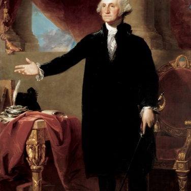 02. Il corpo del Presidente: repubblicano e a termine, 1797. Gilbert Charles Stuart, George Washington Renouncing a Third Term as U.S. President (1797). National Portrait Gallery, Smithsonian Institution, Washington, D.C.
