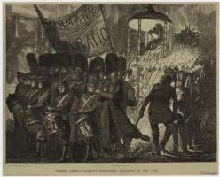 16. Corpi in marcia: parata Democratica (Tammany Hall), New York, 1870. Tammany Democratic Procession in New York, 1870, in «Graphic» (March 26, 1870). New York Public Library Picture Collection, New York City.