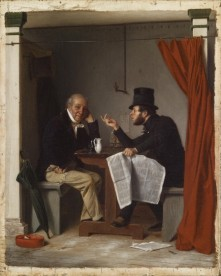 21. Corpi repubblicani ideali, 1848. Richard Caton Woodville, Politics in an Oyster House (1848). The Walters Art Museum, Baltimore, Maryland.