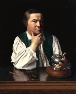 05. Rivoluzionario e cittadino ideale: Paul Revere. John Singleton Copley, Paul Revere (1768). Museum of Fine Arts, Boston.