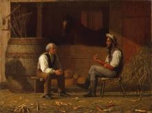 22. Corpi repubblicani ideali (che assomigliano a George Washington e Abraham Lincoln), 1872. Enoch Wood Perry, Talking it Over (1872). The Metropolitan Museum of Art, New York City.