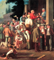11. Il voto palese. Dettaglio di George Caleb Bingham, The County Election (1851–52). St. Louis Art Museum, St. Louis, Missouri.