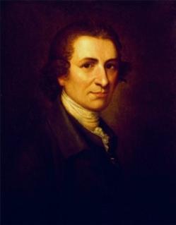 06. Rivoluzionario e cittadino ideale: Tom Paine. Matthew Pratt, Thomas Paine (1785-1795). Kirby Collection of Historical Paintings, Lafayette College Art Collection, Easton, Pennsylvania.