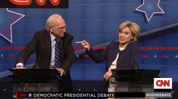 Il dibattito secondo Saturday Night Live, con Kate McKinnon e un perfetto Larry David.