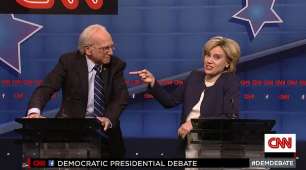 Il dibattito secondo Saturday Night Live, con Kate McKinnon e un perfetto Larry David.