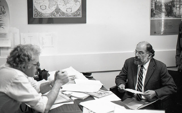 Bernie Sanders and Allen Ginsberg, Burlington, Vermont, 1983 – Photograph @Phyllis Segura 1983