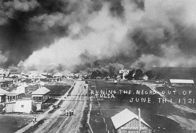 Run[n]ing the Negro out of Tulsa, June 1, 1921