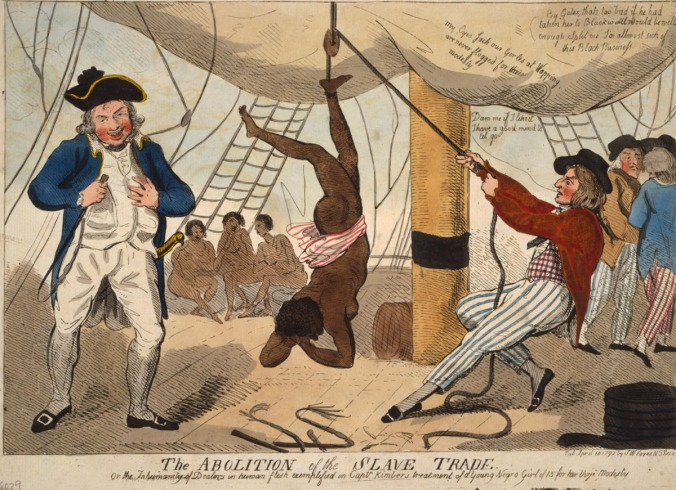 Punishment Aboard a Slave Ship, 1792. Published in London, April 10, 1792. Library of Congress, Prints and Photographs Division