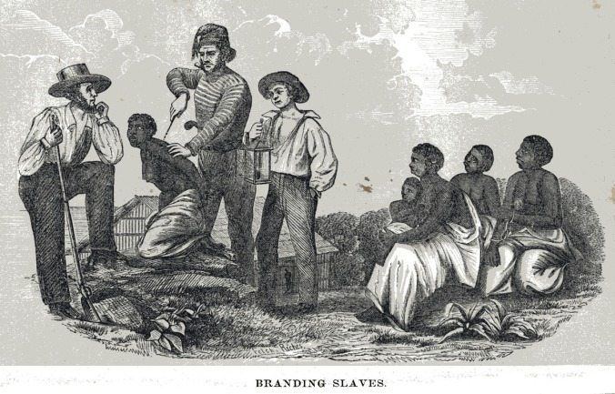 Branding Slaves, 1857. From Blake, The History of Slavery and the Slave Trade, 1857. Library of Congress, Prints and Photographs Division