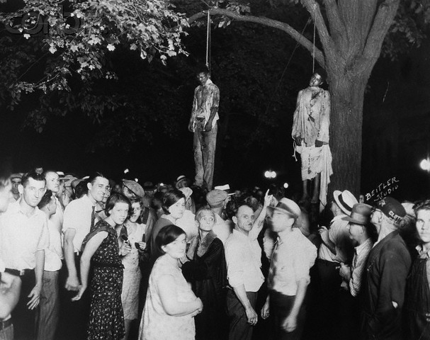 Thomas Shipp and Abram Smith, 1930. Lynched in Marion, Indiana, August 7, 1930. Courtesy: CSU Archives/Everett Collection