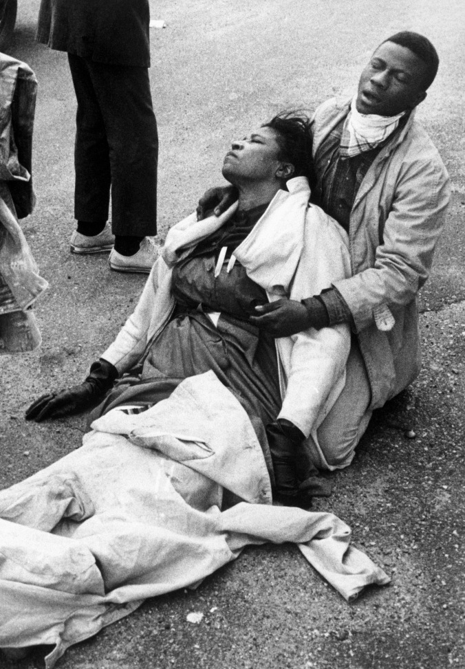 "Amelia Boyton, 1965. March Selma to Montgomery, Alabama, March 7, 1965, ""Bloody Dunday"". Photo by Tom Lankford, Birmingham News"