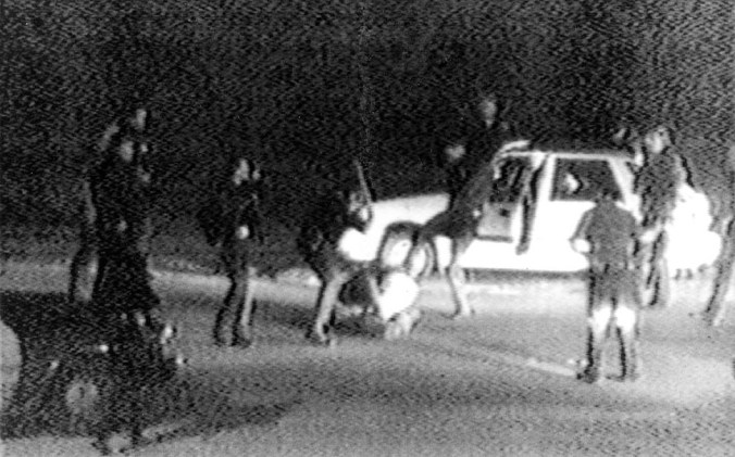 Rodney King, 1991. Los Angeles, March 3, 1991. Frame from video by George Holliday