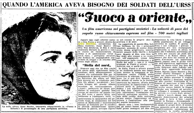 L'Unità, 20 marzo 1949