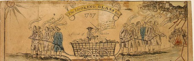 The looking glass for 1787. A house divided against itself cannot stand. New Haven: 1787. Library of Congress