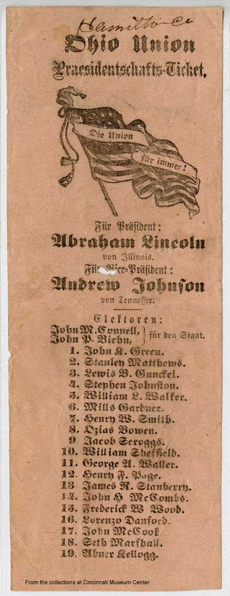 1864 ballot