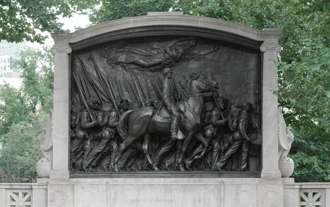agustus-saint-gaudens-robert-shaw-memorial-monument