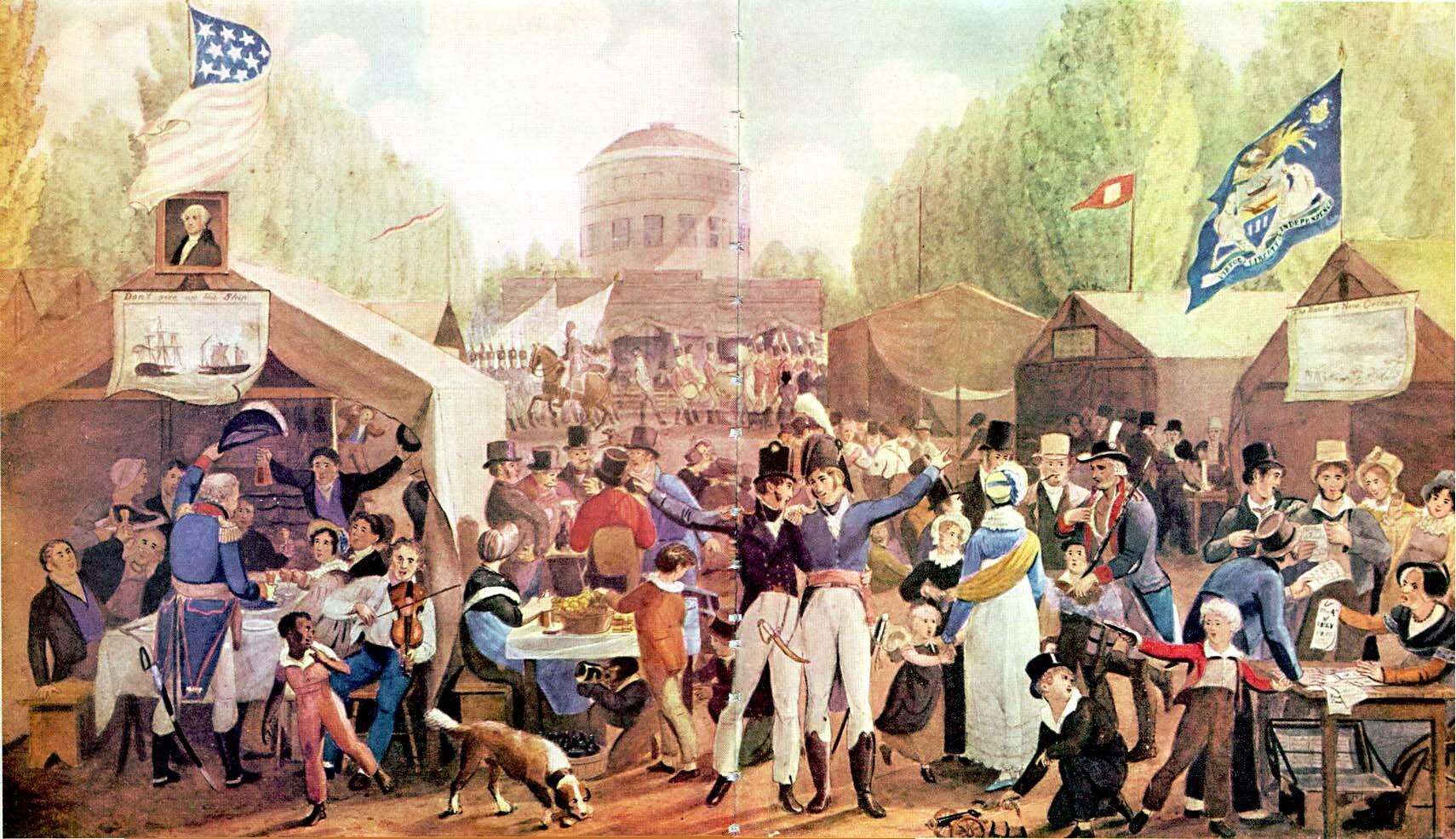 4th-of-July-1819-Philadelphia-John-Lewis-Krimmel